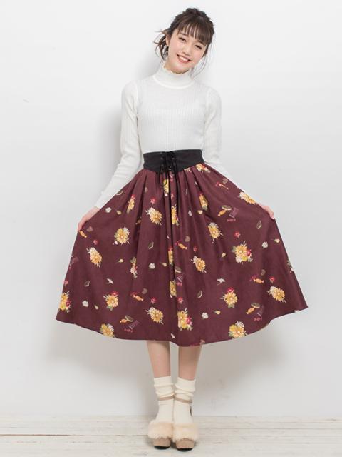 花お菓子スカート